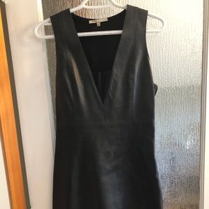 Faux leather LBD